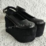 Sweet Dark Grey Lolita High Platform
