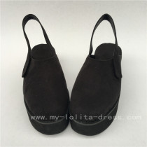 Black Velvet Lolita Shoes with High Platform