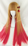 Peru Red Straight Lolita Wig
