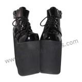 Black Shiny Belts High Soles Lolita Shoes