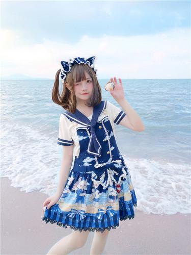 Tommy Bear ~ Kitty Sailor Cute Lolita JSK