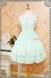 Strawberry Witch Classic Lolita Jumper Dress Navy Blue(Bust:132cm,Waist:130cm,Length:115cm) -In Stock