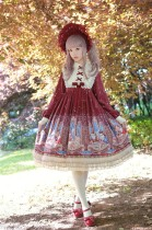 Honey Honey Lolita***Cats' Astrology*** Lolita High Waist OP -Ready Made