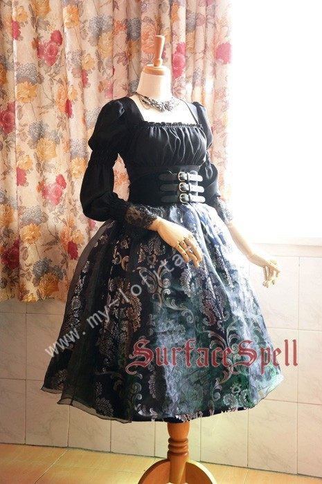 Surface Spell Lady in Darkness Vintage Lolita Skirt