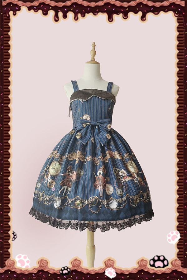 Infanta ~Machinery Puppet~ Steam Punk Cotton Lolita Jumper Simplied Version