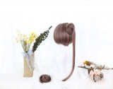 Dango Lolita Wig with 2 Buns Ponytails