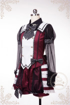 Guard of Honour~ Quji Lolita Vest and Short Pants Wine L In Stock