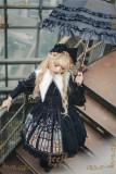 The Holy Cross~Side Open Birdcage Gothic Lolita JSK + Mantilla -Ready Made