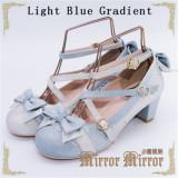 Falling Stars~ Sweet Bows Lolita Heels Shoes -Ready Made