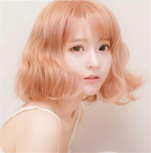Sweet Girl's Lolita Short Curls Wig with Bangs