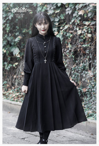 Joan~ Vintage Lolita OP Dress Long Sleeves Edition -Ready Made