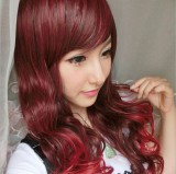 Sweet Wine Long Curls Lolita Wig off