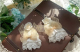 Ode to Love and Vows ~Luxury Lolita Fullset (OP + Necklace + Wristcuffs + Bonnet + Back Yarn) -Pre-order