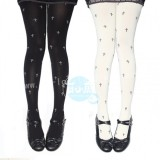 Mufish Cross Printed Sweet Lolita Tights - IN STOCK