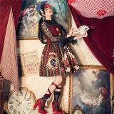 Circus Rabbit Printed Lolita Jumper + Hairclip
