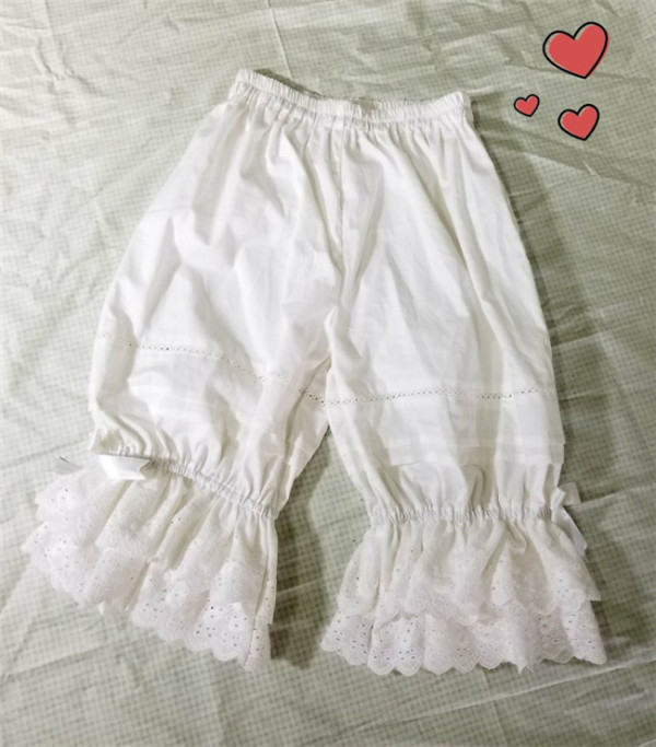 Double-layer Cotton Embroidery Lolita Bloomer
