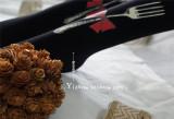 Yidhra -Alice's Dinner- 120D Velvet  Knife & Fork Printed Lolita Tights