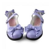 Girl's Purple Sweet Lolita Flats Shoes