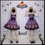 Blood Sucking Cat Vampire Lolita JSK - Ready Made Purple Size S - In Stock
