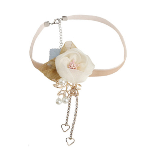 Bustling Flowers Beautiful Tassels Lolita necklace