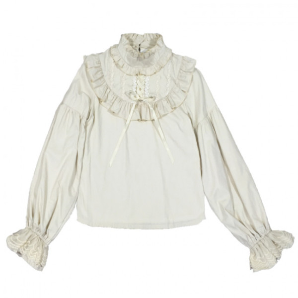 Bisque Doll- Vintage Lolita Blouse Custom Tailor Available
