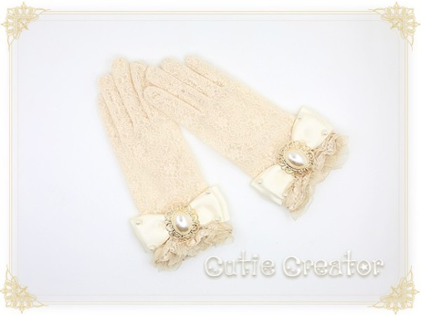 Sweet Dreamer Pearl Lace Lolita Gloves