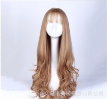 Popular Girl's Lolita Long Curls Wig with Bangs
