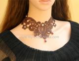 Vintage Goth Big Fake Collar Lolita Choker-out