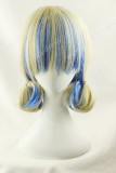 Japanese Daily Fashion Curly Cream Blue Lolita Wig