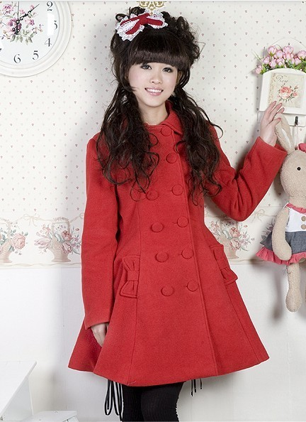 Lolita Princess Double Breasted Cashmere Polyester Winter Coat