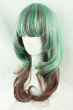 AMO Green Brown Curly Lolita Wig