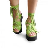 Sweet Green High Platform Lolita Sandals