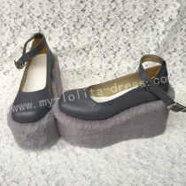 Sweet Dark Grey Lolita High Platform