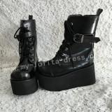 Girls Beautiful Matte Black Lolita Boots