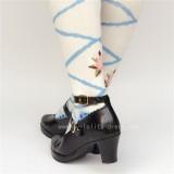 Black Matte Lolita Thin Heels Shoes