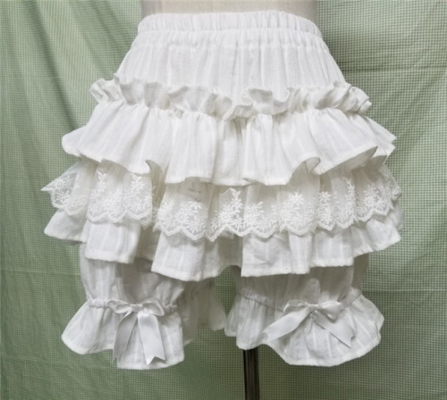 Sweet Cotton Ruffles Lolita Bloomer