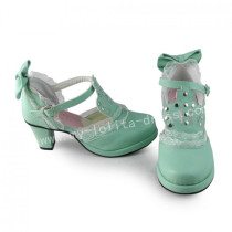 Sweet Mint Lolita Heels Shoes