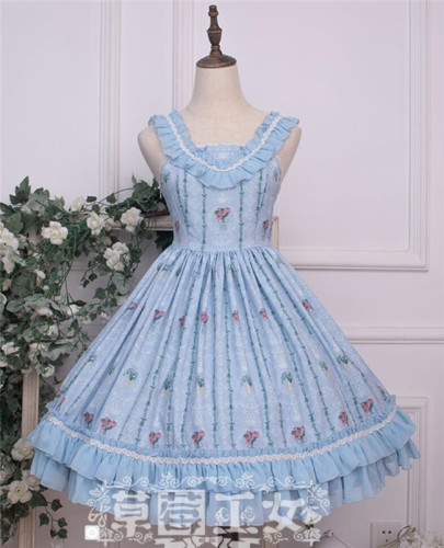 Strawberry Witch~ Flower Walls Lolita JSK