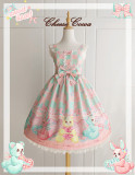 Sweetheart Puppets Sweet Slight Waist Lolita Jumper -Ready Made