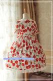 Sweet Cherry~ Pan peter Collar Lolita Short Sleeves OP Dress -Ready made