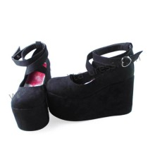 Black Velvet High Platform Women Shoes