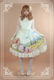 Neverland Lolita ~The Song of The Lark~ High Waist Oil Painting Printed Vintage Lolita Skirt
