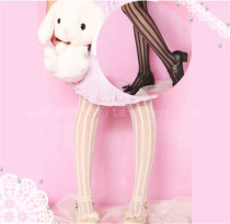 Ao1~ Summer Vertical Striped Velvet Lolita Tights