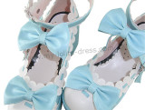 Black White Bows Golf Lolita Shoes Black&Pink Bows In Stock