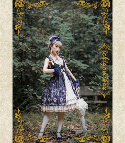 IchigoMiko ~Eden Gems~ Lolita JSK With Front Open Design  Version I -Ready Made