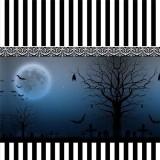 Bats at the Dark Night -Dark Blue Gothic Lolita Pleated Skirt
