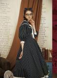 Little Sister Of Oxford~ College Style Stripe Lolita OP -Pre-order