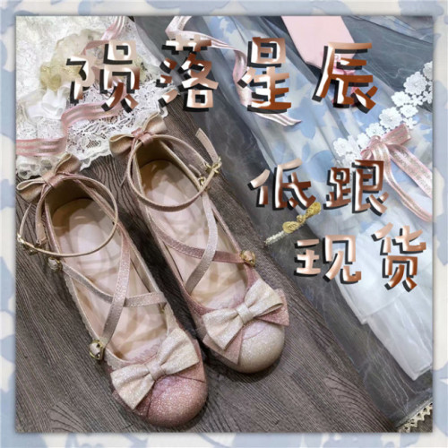 Falling Stars~ Sweet Bows Lolita 2.5cm Heels Shoes -Ready Made