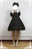 Constellation Kindergarten~Gold-staping Chiffon Lolita Sailor Collar OP Dress