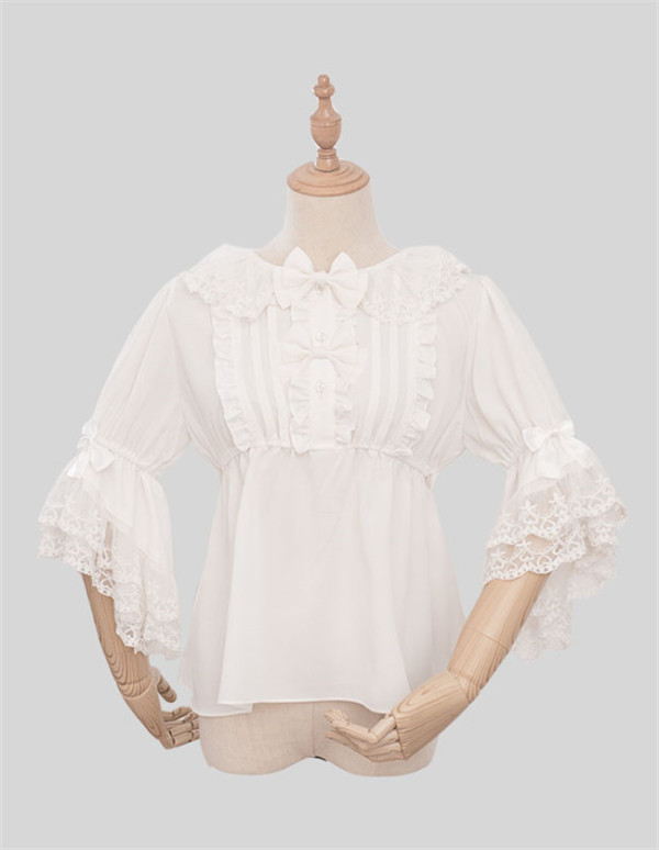 Magic Tea Party~ Little Evil~ Summer Lolita Blouse -Ready Made